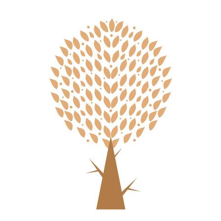 reiteration: Art tree isolated on white background