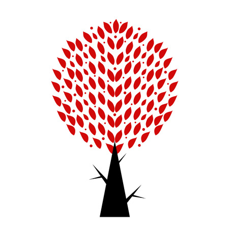 Art tree isolated on white background Stock Vector - 29638820