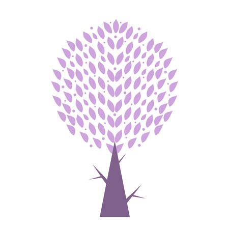 Art tree isolated on white background Stock Vector - 29638821