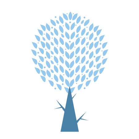 Art tree isolated on white background