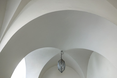lamp on the white ceiling  photo