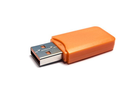 USB Flash Drive closeup on white background  photo