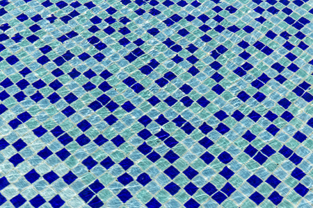 swimming pool home: Blue ceramic tile mosaic in swimming pool  seamless texture