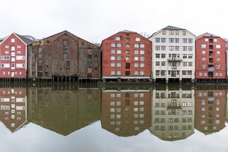 seaway: Wooden houses in Trondheim, Norway