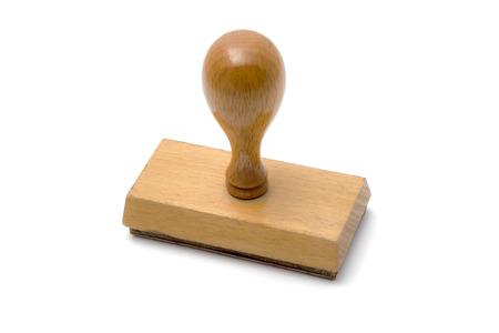 sello: Sello de madera aislada en el fondo blanco