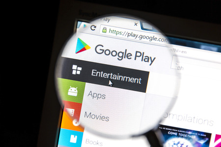 google play: Google Plays website under a magnifying glass Google Play is a digital distribution platform operated by Google. Editorial