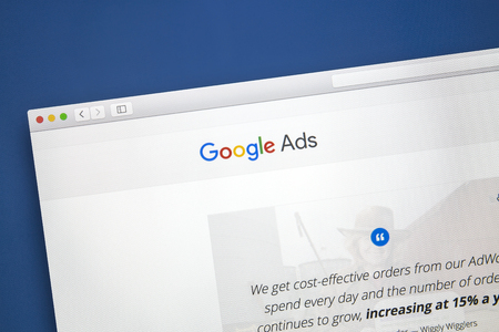 Google Ads website on a computer screen