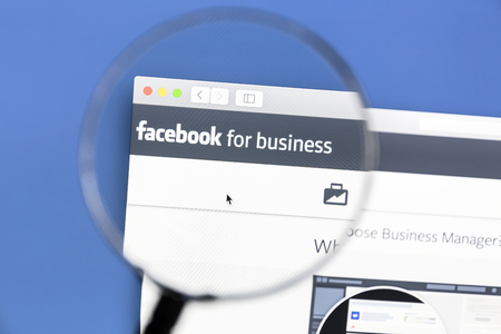 Closeup of Facebook business page
