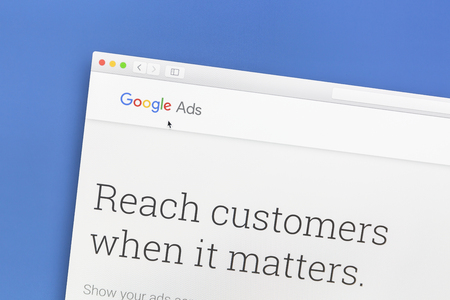 adwords: Google Ads website on a computer screen