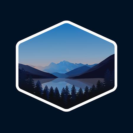 mountain modern vector illustration, mountain logo design