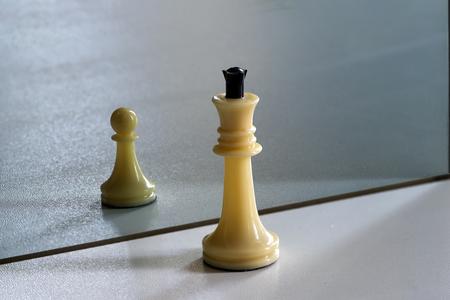 Concepto de oportunidades, autodesarrollo, superación, competencia, gestión de recursos humanos. Foto de archivo