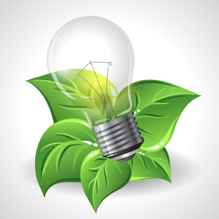 natural resource: Green Energy Concept Illustration