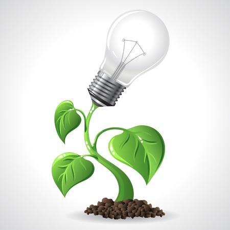 Green Energy Concept  Vector Illustration Vector