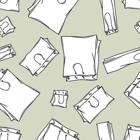 consumerism: Seamless bags pattern  vector Illustration