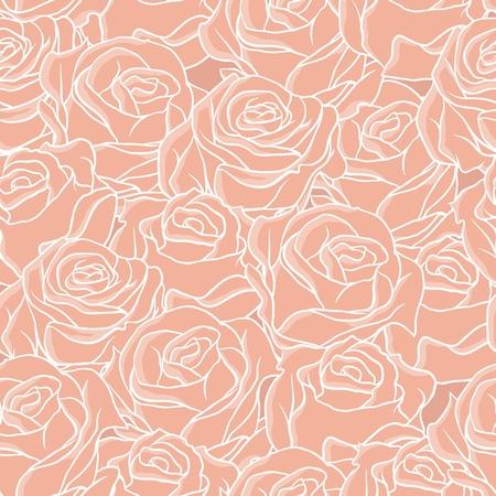 Naadloze abstracte achtergrond met rozen