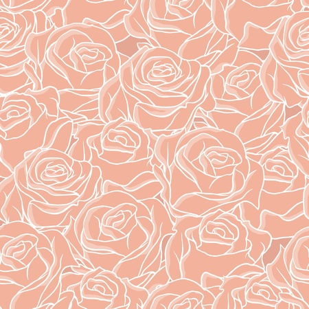 repeating pattern: Seamless abstract background with roses Illustration