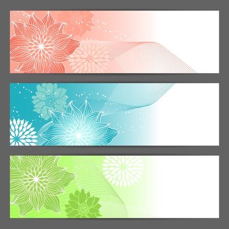 Horizontal banner, headers  Vector