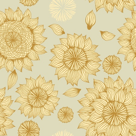 Vector Flower  Seamless Pattern  Stock Vector - 13028195