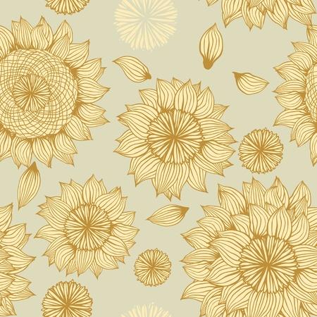 Vector Flower  Seamless Pattern Stock Vector - 13028195