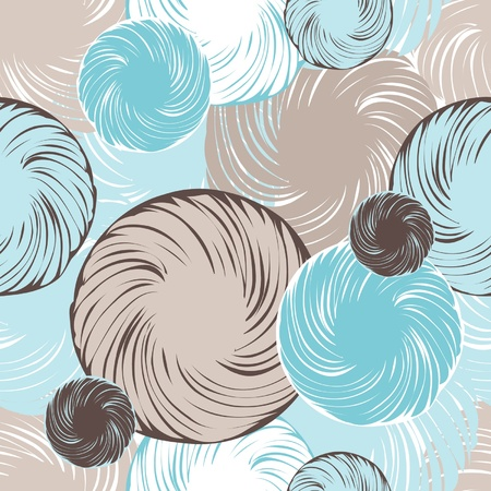 Abstract seamless background made of set of rings Vector