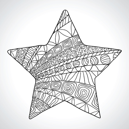 Decorative star isolated on wight bacground Vector
