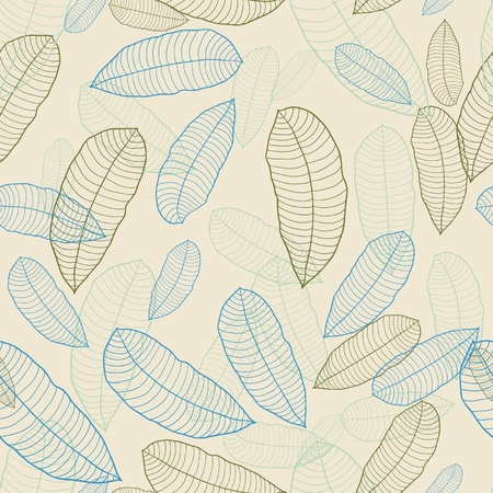Vector illustration  Seamless pattern of leaves  Stock Vector - 13028196