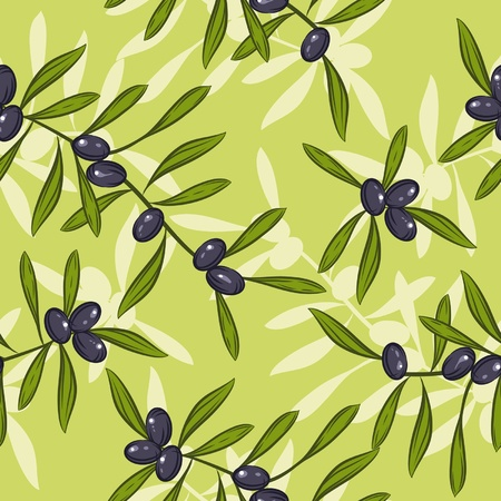 Seamless realistic olive oil background  Illustration vector Stock Vector - 13028133