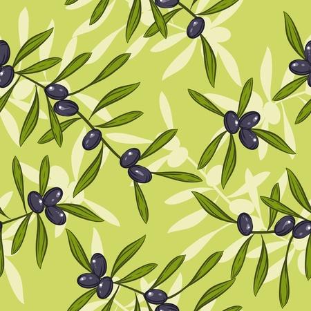 cultura italiana: Seamless realistica olio d'oliva sfondo illustrazione vettoriale