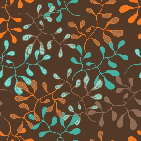 Vector background with hand drawn flowers   Seamless Pattern  Stock Vector - 13195769