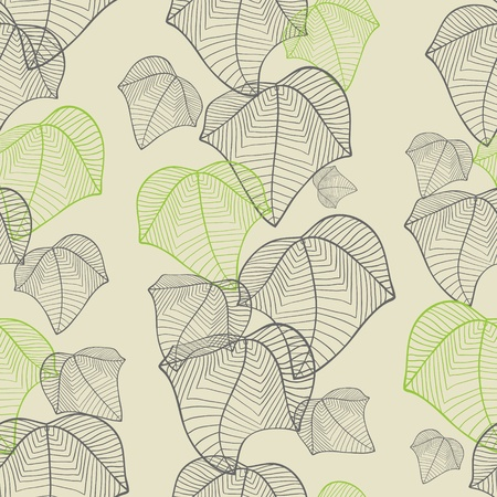 Vector illustration of leaves   Seamless stylish pattern  Stock Vector - 13195792