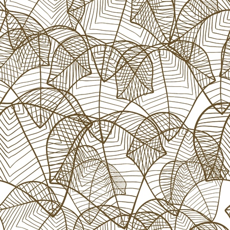 Vector illustration of leaves   Seamless stylish pattern  Vector
