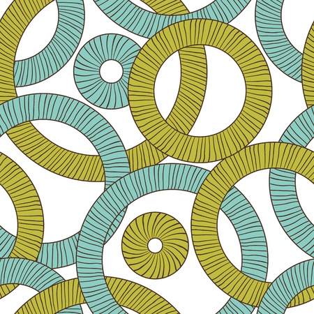 Seamless texture of abstract circles  Vector background Stock Vector - 13195784