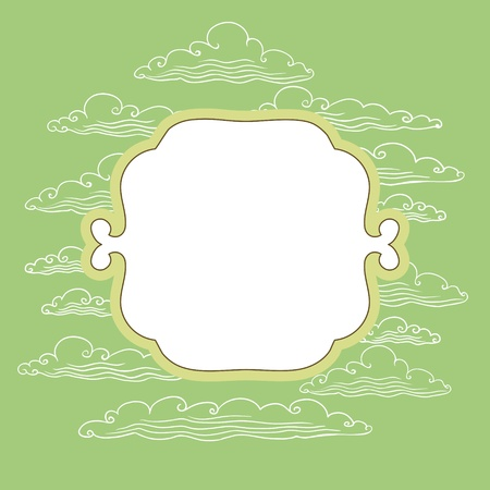 Frame with background from clouds - vector illustration  Illustration