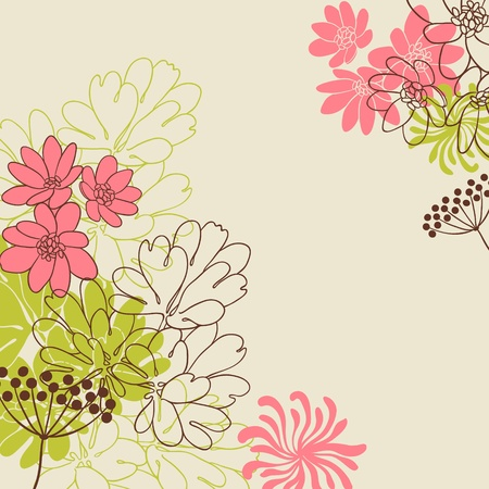 background flowers: Abstract flowers background with place for your text Illustration