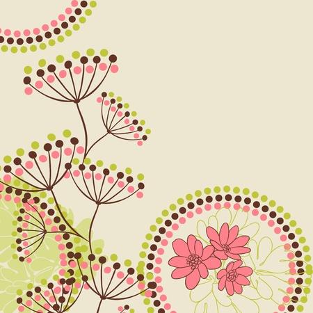 Abstracte bloemen achtergrond met plaats voor uw tekst Stock Illustratie