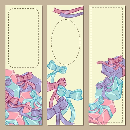 Colorfull gift box banners for your design  Stock Vector - 13288478