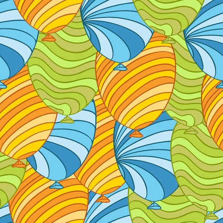 Seamless pattern of hand drawn balloons, vector  Vector
