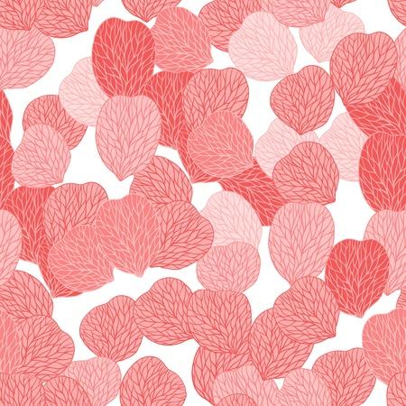 pamper: Seamless pattern of pink flower petals  Vector illustranion