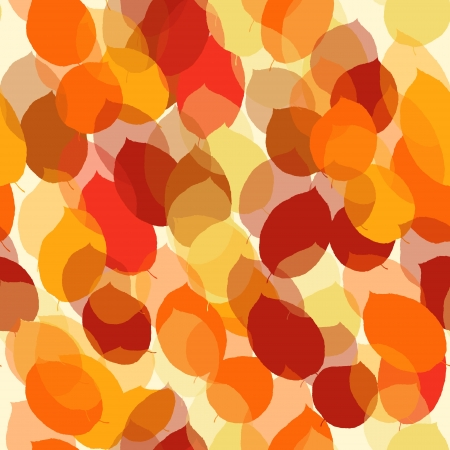 Cute seamless leaf autumn pattern Vector