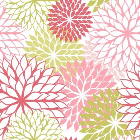 Patrón sin fisuras con flores de dibujar a mano, ilustración floral