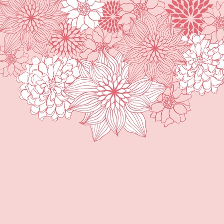 Abstract floral background flower element for design  Vector