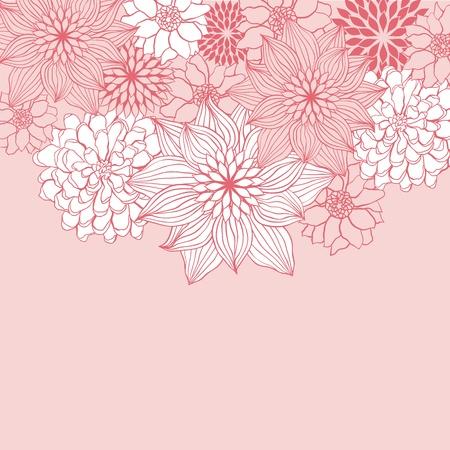 old wallpaper: Abstract floral background flower element for design