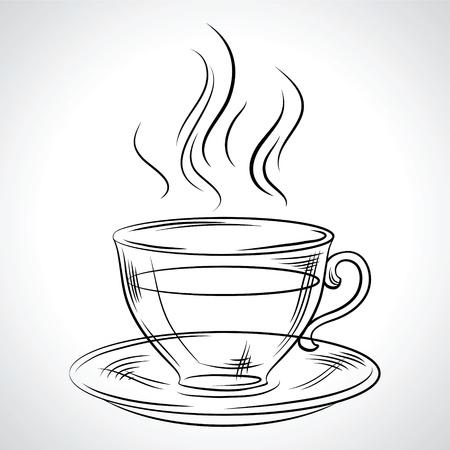 Tasse de café boisson chaude, du thé, etc