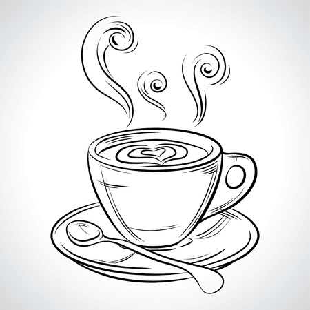 Cup  mug  of hot drink  coffee, tea etc  Vector