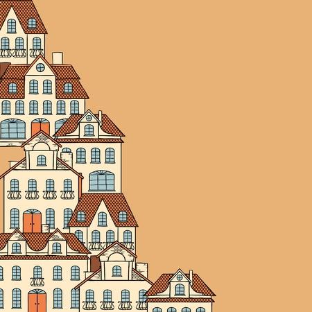 maison de maitre: Croquis ville, fond de maisons pour la conception de votre