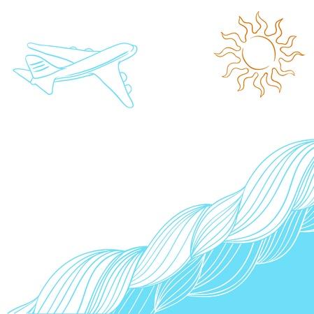 Travel background for you design collor Illustration Stock Vector - 13465031