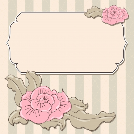 taper: Abstract flowers background with place for your text Illustration
