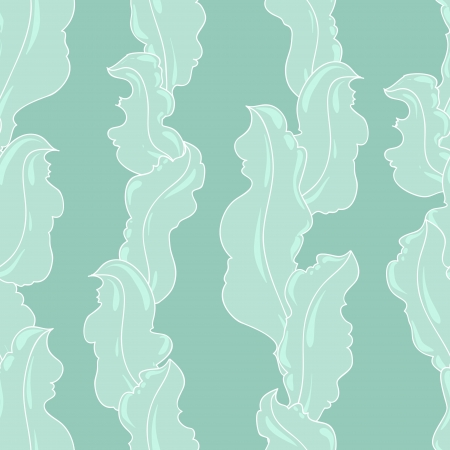 sea weed: Seamless abstract hand-drawn pattern looks like grass