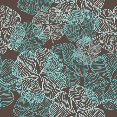 seamless clover: abstract clover