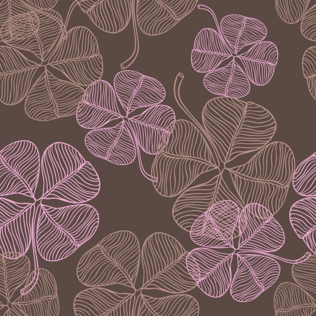 floral fabric:  abstract clover